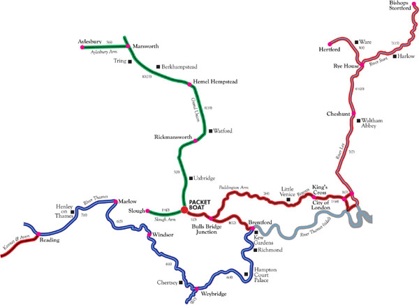 Map Of Uk Rivers And Canals.London Afloat For Map Of London S Canals Rivers